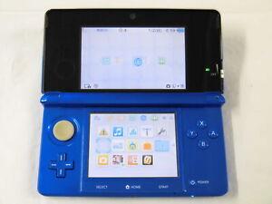 Y5437 Nintendo 3DS console Cobalt Blue Japan w/stylus pen