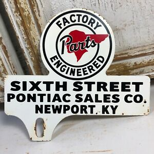 Pontiac Factory Engineered Parts Reproduction Circle Aluminum Sign