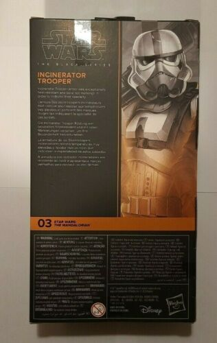 """Inceneritore di Star Wars Trooper Mandaloriani 03 NERO SERIE 6/"""" figura di Nuovo In Magazzino"""