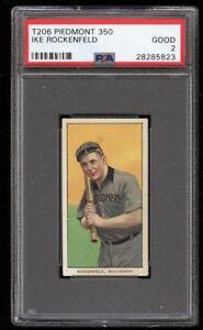 1909-11 T206 Ike Rockenfeld Piedmont 350 Montgomery Southern League PSA 2 Good