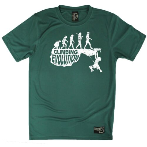 Dry Fit Breathable Sports T-SHIRT Climbing Evolution Adrenaline Addict