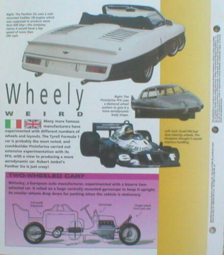 WILD WHEELS Collectors Brochure HOT CARS//IMP