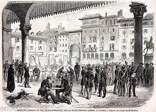 CASALE MONFERRATO: Piazza Mazzini: Quartier Generale del Re. Risorgimento. 1859