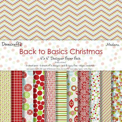 BACK TO BASICS CHRISTMAS MODERN  - SAMPLE PACKS 12 X  6 x 6 PAPERS -