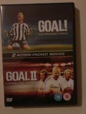 GOAL & GOAL II LIVING THE DREAM - UK R2 DVD (2-DISC SET) - GOAL 1 & 2 - vgc