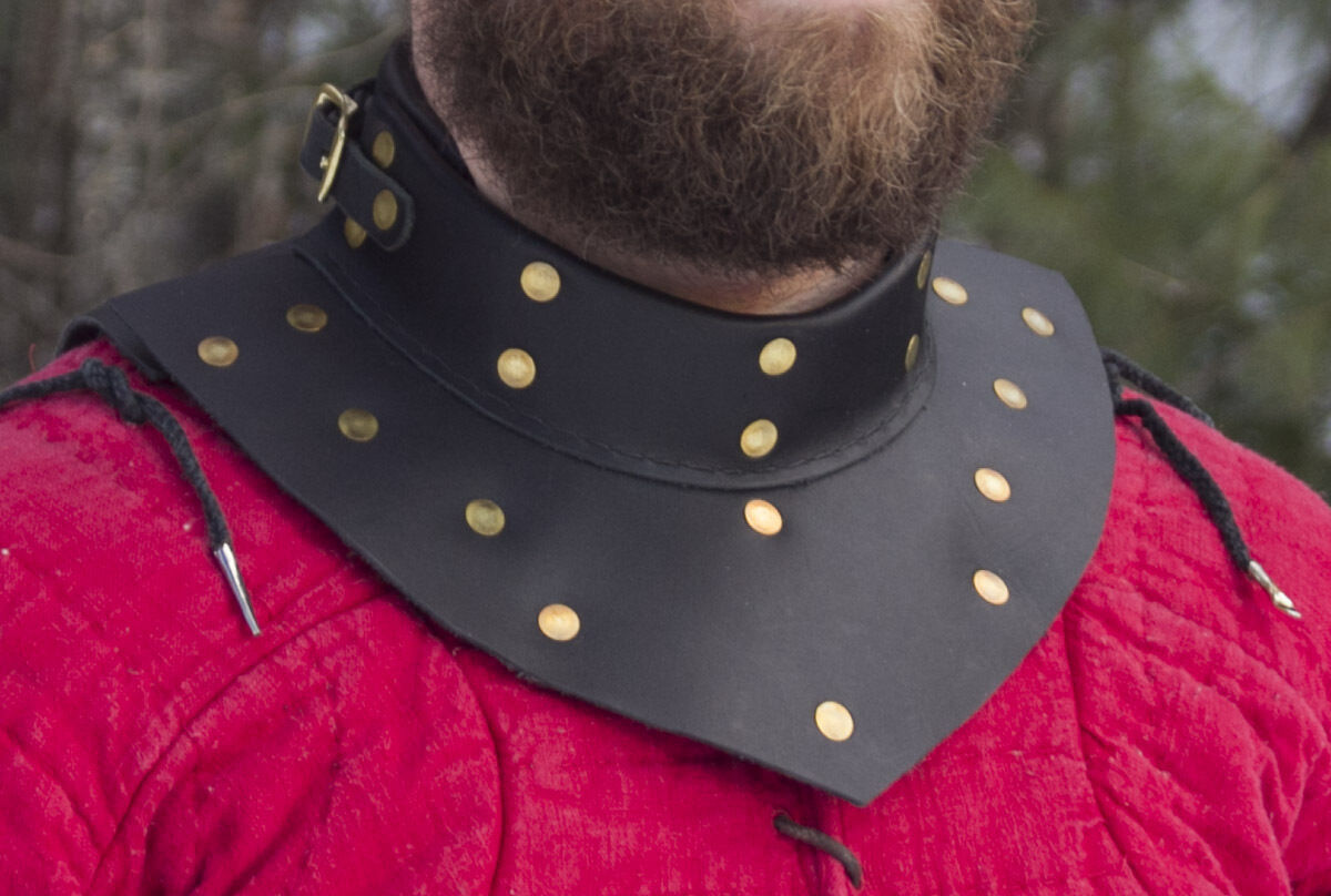 Brigantine Gorget delivers GREAT Rapier armor for cut & thrust  SCA WMA  combat  perfect