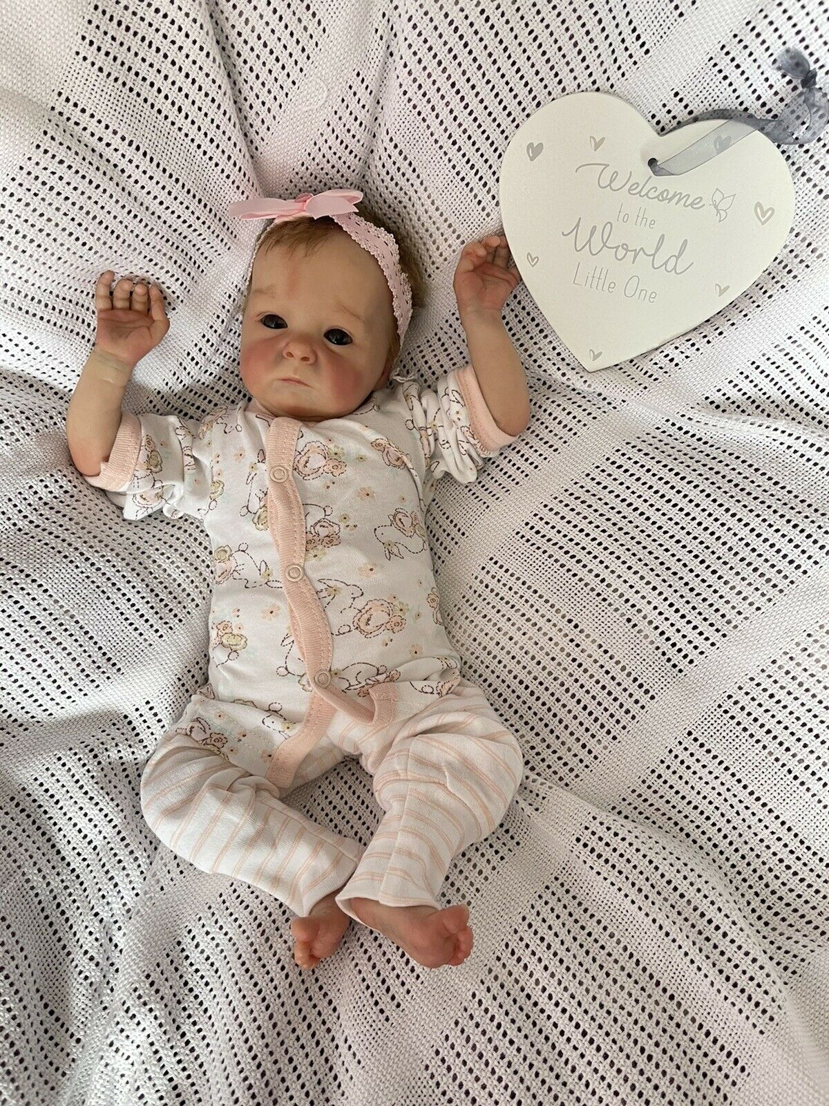 Tink Reborn Baby Girl Doll Sculpted By Bonnie Brown Painted By Genuine Uk Artist