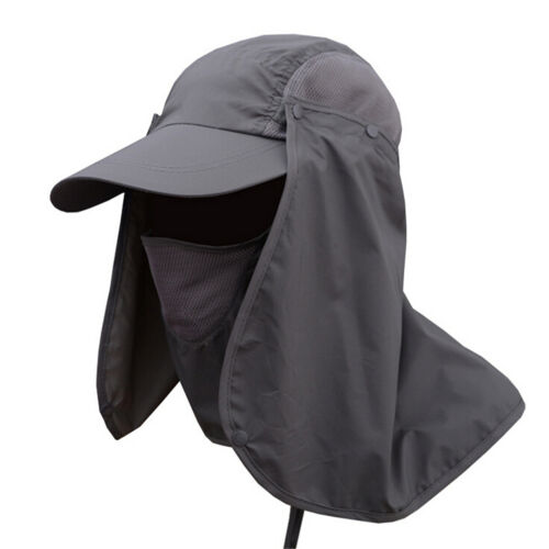 TopOutdoor Sun Shield Neck Face Mask Mesh Floppy Flap HatCap Visor Sunbonne NICA