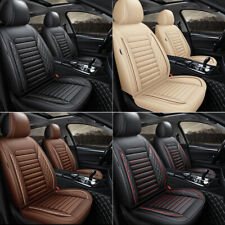 Universal Deluxe Pu Leather 5 Seats Car Seat Cover Front Rear Cushion Full Set Fits Volvo