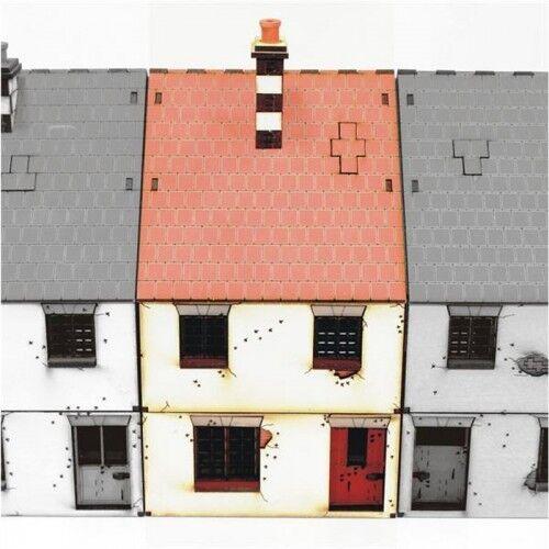 4GROUND metà Terrace 1 28mm PREPAINTED MONDO AT È STATO terreno TERRAIN WW2 Casa