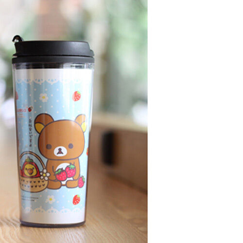 So Cute Rilakkuma Insulated Tumbler Cup 455ml Travel Tea Mug Keep Warm and Cool