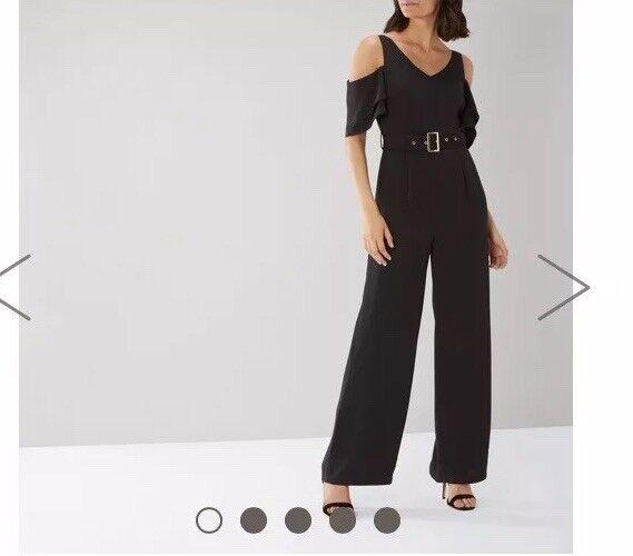 968a8c3b5634 Coast Jennifer Belted Jumpsuit Black Size 14 Box37 for sale online ...