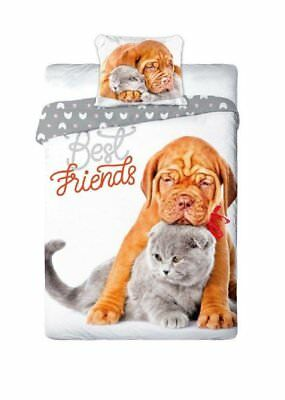 Best Friends Cucciolo Bulldog Set Lenzuola Letto Singolo,copripiumino Cotone Il Consumo Regolare Di Tè Migliora La Salute