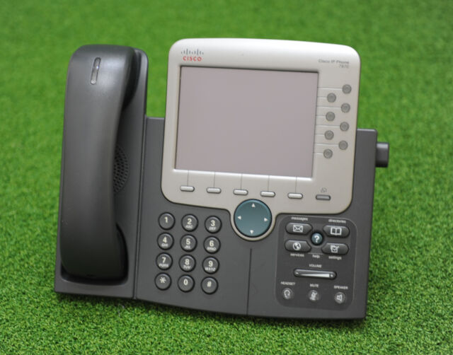 CISCO 7970G CISCO CP-7970G  Six line Color Display IP Phone - 1 YEAR WARRANTY