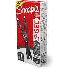 Sharpie S Gel Retractable Gel Ink Pens 05mm Fine Point Black Ink 12 Count
