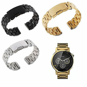 Stainless-Steel-Watch-Band-Strap-For-46mm-2nd-Gen-Moto-360-Samsung-R382-LG-Watch