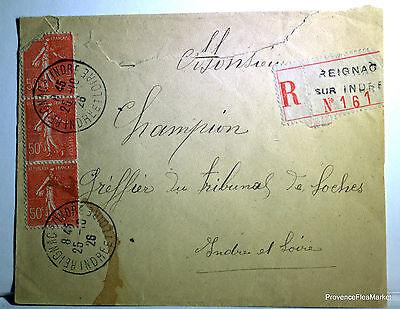 Analytisch Semeuse Sur Lettre Reignard Sur Indre 1926 - 201ca63