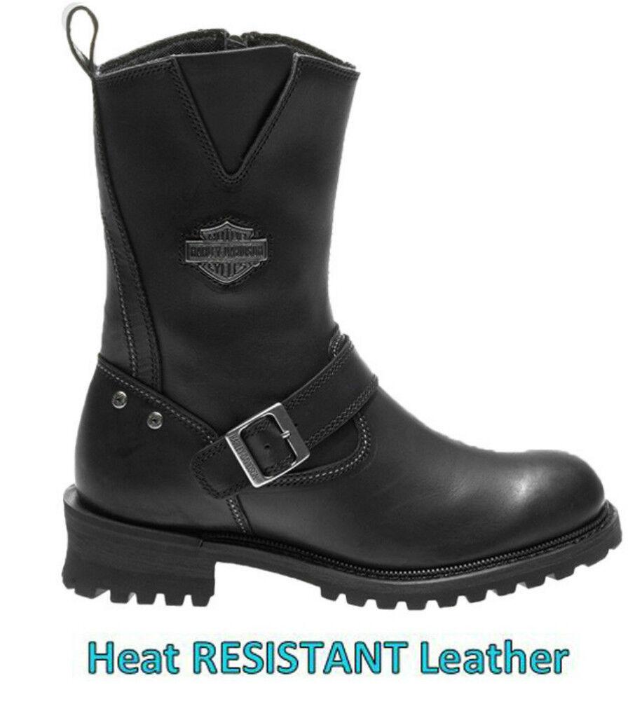 Harley-Davidson® Men's Bladen Motorcycle Black Leather Riding Boots D96155