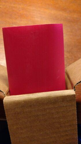 """3M FP-301 RED ROUGE ROJO 2/"""" x 48/"""" 50.8000 MM X 1219.2 MM NIB BOX OF 5 NIB"""