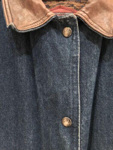Kvinders Woolrich Jean Blanket Medium Størrelse Jakke Denim Vintage Xn1xdw66