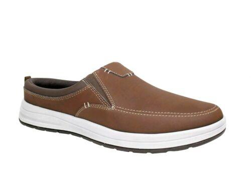 George Men/'s Casual Slip-on Lightweight Brown Mule Sneakers 8-12 Shoes