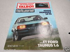 L AUTO JOURNAL 1980 N° 2 VW TRANSPORTER, FORD TAUNUS, R14 TS, ALFA SPIDER, ALL *