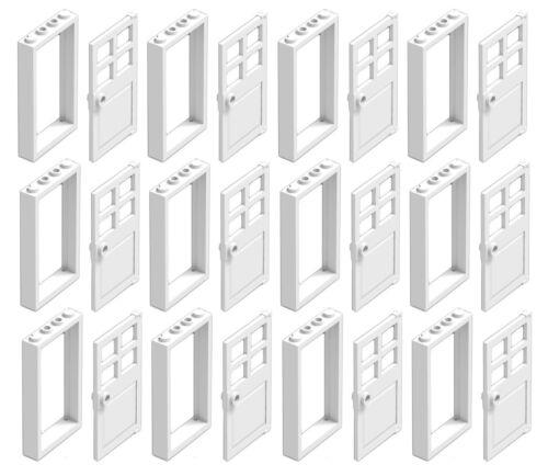 ☀️NEW LEGO X12 WHITE Door Frame 1x4x6 City Building w// White Door Bulk Parts