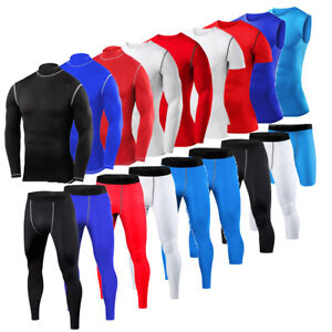 Mens Compression Top Shirt Pants Shorts Vest Base Layers Running Tights Gym Wear