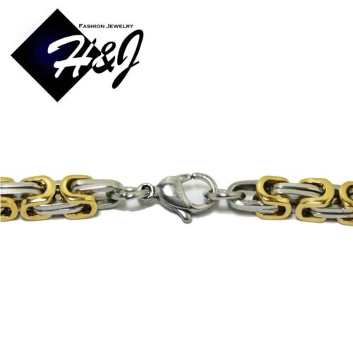 """24/""""MEN/'s Stainless Steel 6mm Gold Silver Box Link Chain Necklace Cross Pendant*N"""