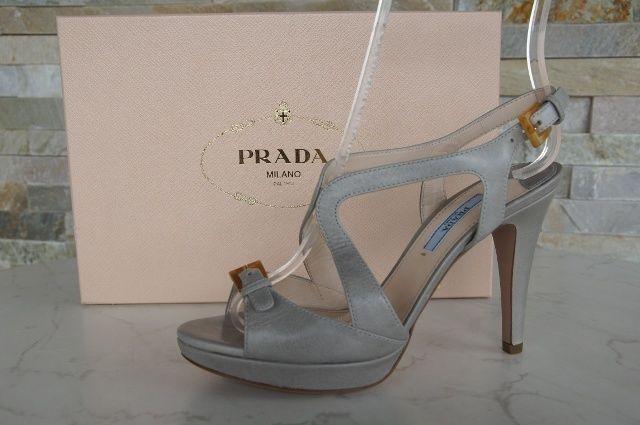 Prada Gr 37 Plataforma Sandalias Zapatos 1XP239 Nube Nube Nuevo