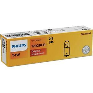PHILIPS-T4W-12V-4W-BA9s-Innenraumleuchte-Gluehlampe-Gluehbirne-12929CP-10er