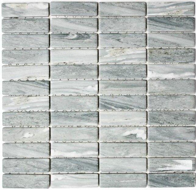 Keramikmosaik Stäbchen Steinoptik grau Fliesenspiegel Art: 24-STSO23   10 Matten Matten Matten afb518