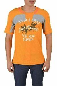 Just Cavalli Homme Multicolore Graphique Ras Du Cou Court Manche T-Shirt US M It
