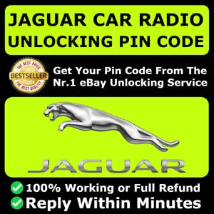 Código Pin Desbloquear Decodificar radio Jaguar X S Tipo XF XJ xe F-ritmo e-ritmo instantáneo