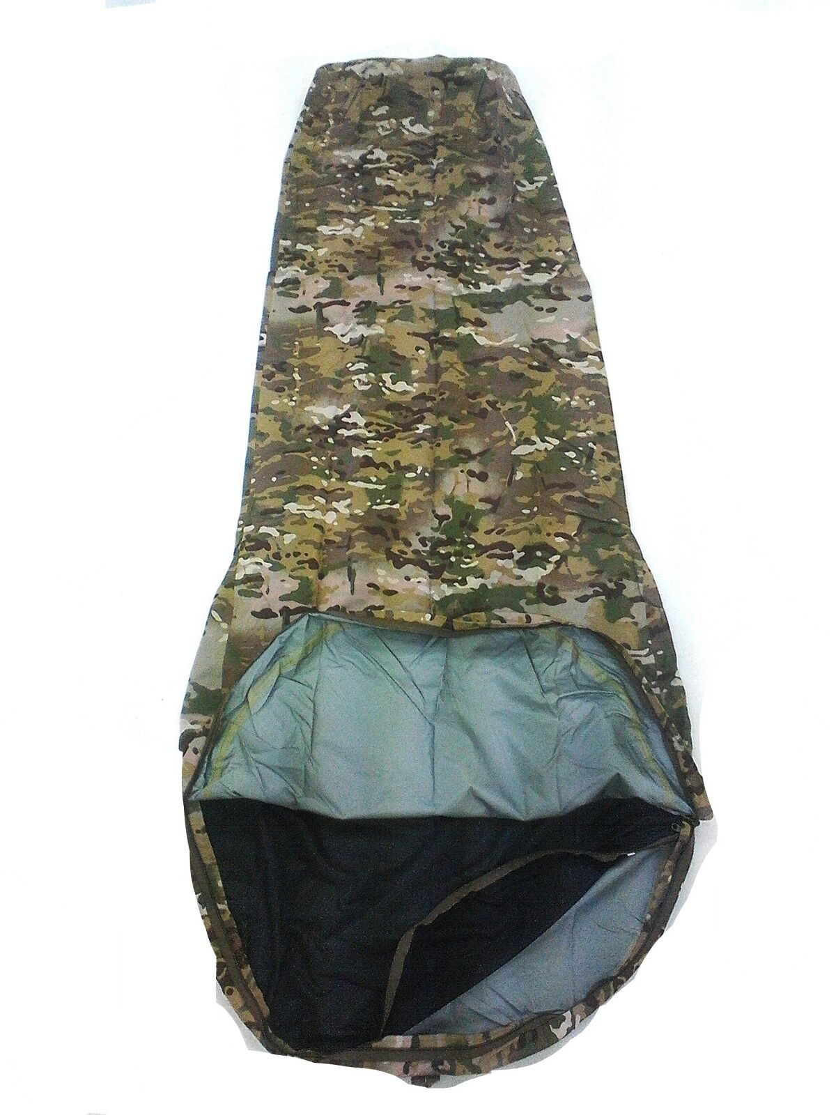 CSG MULTICAM BIVY BAG WITH ALLOY HEAD POLE 3 LAYER LARGE   XLARGE 235X110X80CM -