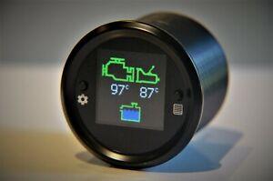 Engine-amp-Transmission-temp-coolant-level-52mm-gauge-visual-audible-alarms