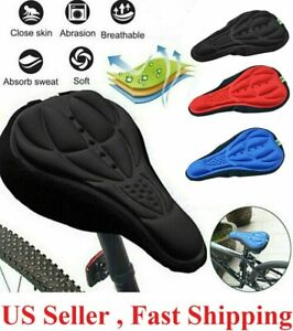 Cycling Bike Saddle 3D Soft Cushion Bicycle Seat Cover Riding Pad Breathable Kit