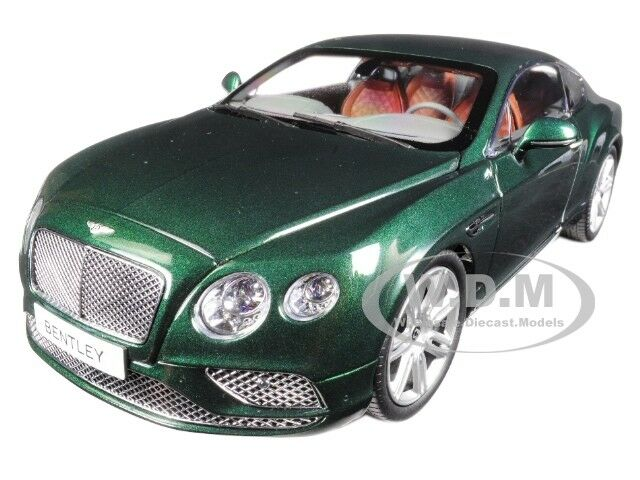 2016 BENTLEY CONTINENTAL GT COUPE VERDANT GREEN 1 18 DIECAST BY PARAGON 98222