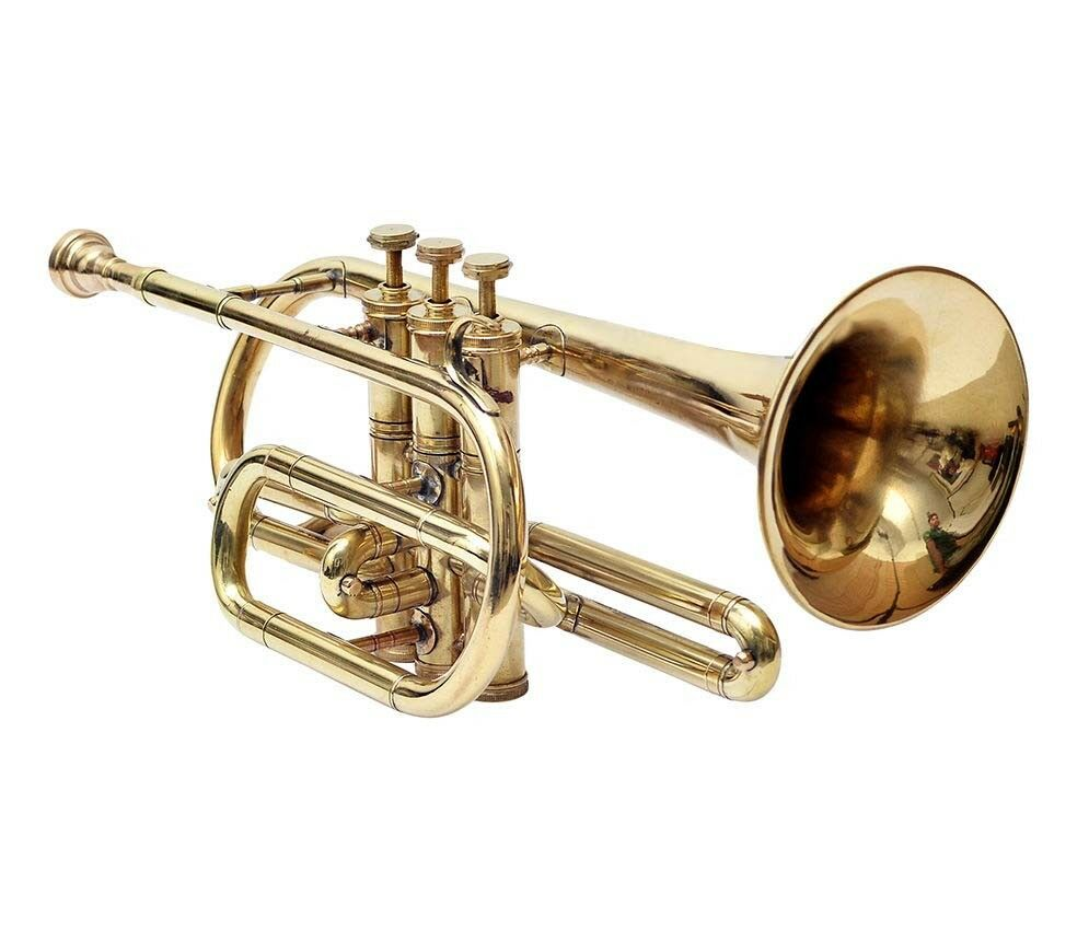 DEAL CORNET BRASS FINISHING Bb FLAT W  FREE MOUTH PIECE AND CASE SKT763