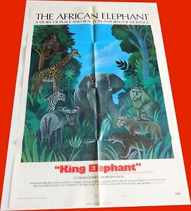 King-Elephant-The-African-Elephant-1971-Documentary-Movie-Poster-Orig-1-Sheet