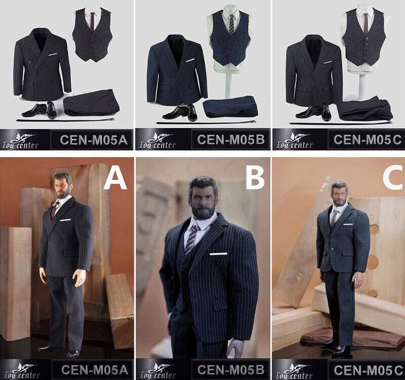 British Gentleman Striped Suit Suit Suit Fit For 1 6 Scale Action Figure Model Phicen M34 3c7