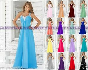 New-Chiffon-Formal-Evening-Ball-Gown-Party-Prom-Bridesmaid-Dress-Stock-Size-6-18