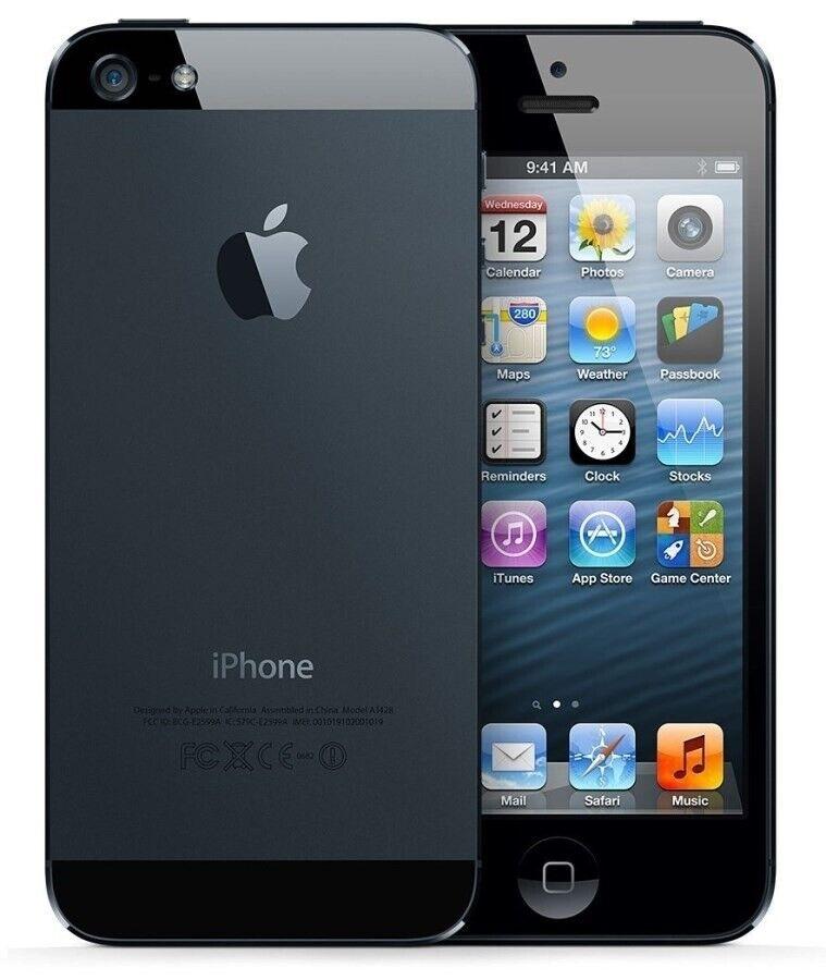 iPhone 5, GB 16, sort