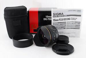 Sigma-15mm-F-2-8-fisheye-diagonale-EX-DG-AF-Lente-Nikon-Mount-Quasi-Nuovo-479556