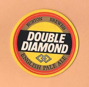 Burton-Brewed-Double-Diamond-Ale-Beer-Mat-Coaster-England-United-Kingdom