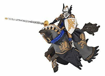 Papo 36001 Dragon Prince And Horse Figure Black