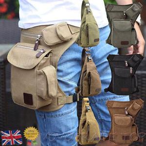 Unisex-Men-Sport-Multifunction-Canvas-Waist-Leg-Bag-Outdoor-Hiking-Chest-Bag-Lot