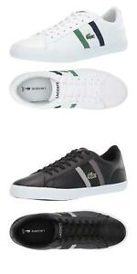 NEW-Lacoste-Men-039-s-Lerond-Fashion-Lace-Up-Casual-Sneakers-Fashion-Leather-Shoes