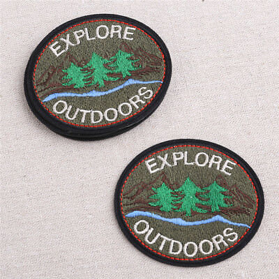 5pcs Embroidery Sew Iron On Patch Explore Badge Clothes Applique Bag Fabric