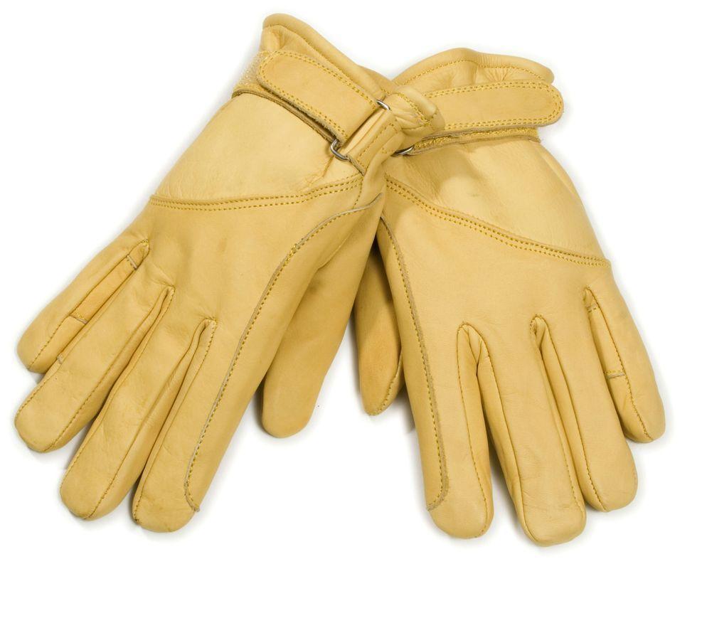 Lederhandschuhe Cowboy Western yellow Leder Handschuhe Gr. M ungefüttert
